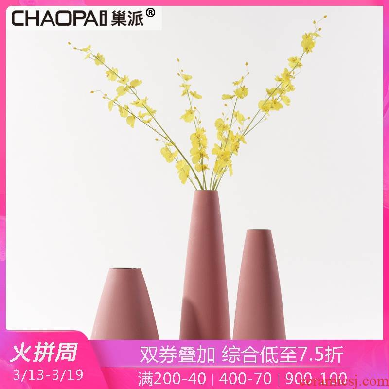 Contracted and I ceramic flower vase household interior furnishing articles between example sitting room porch TV ark, crafts