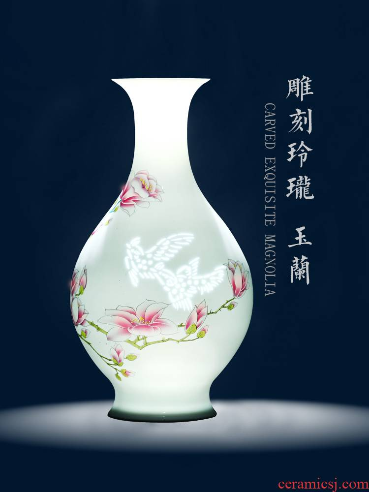 Jingdezhen ceramic floret bottle of flower arranging new Chinese style living room rich ancient frame furnishing articles home decoration porcelain arts and crafts