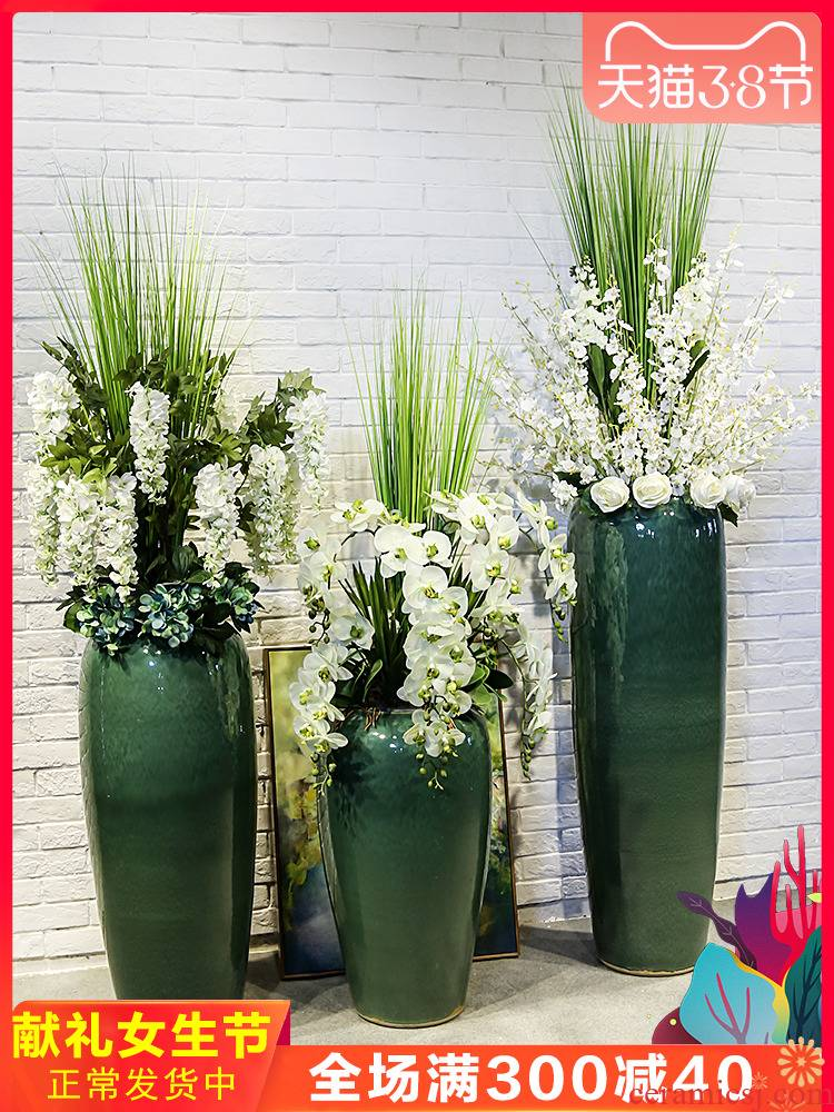 Jingdezhen ceramic hall hotel decoration flower implement between example of large flower flower implement vase store the living room