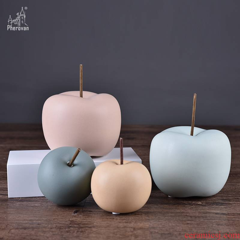 Boreal Europe style ceramic apple desktop furnishing articles home sitting room ark adornment ornament between example of soft decoration