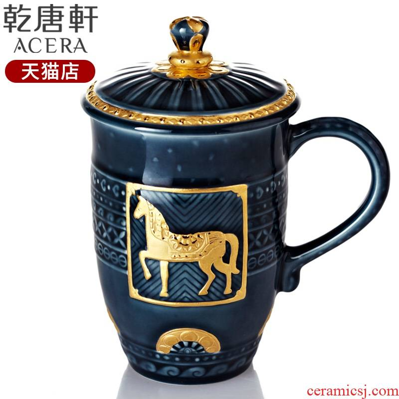 Do Tang Xuan porcelain fine gold royal horse high office tea ceramic cups water in a cup men 's business to send gifts