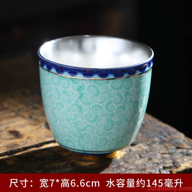 Ceramic cups sample tea cup jingdezhen porcelain antique kung fu tea master of blue and white porcelain cup, small single CPU