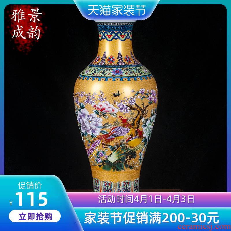 Jingdezhen ceramics modern marriage home sitting room European - style wine ark place large vase vases, TV ark