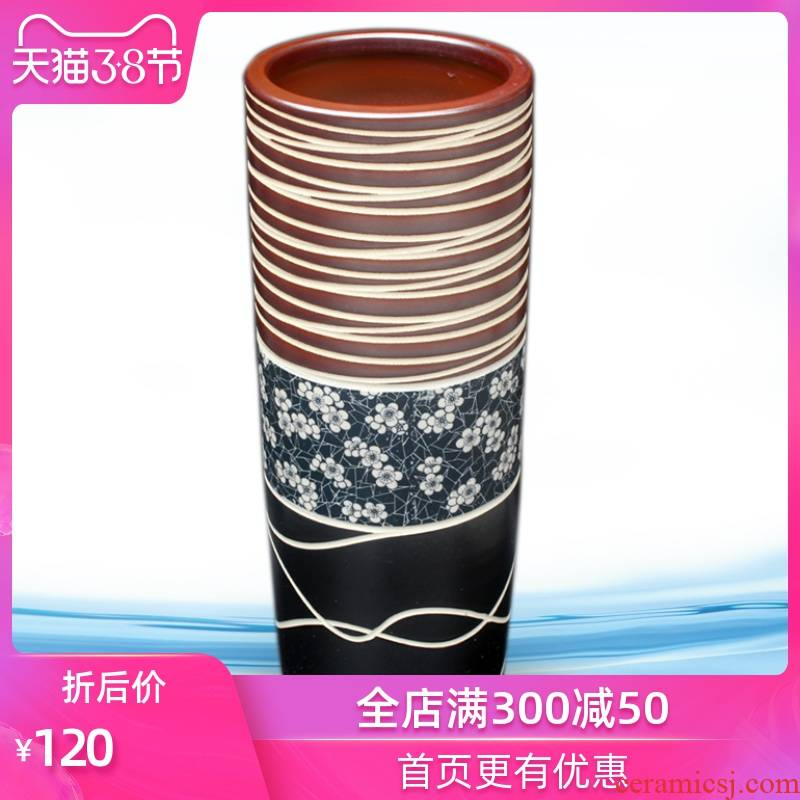Jingdezhen ceramics vase furnishing articles contracted home sitting room be born big lucky bamboo flower vase decorations