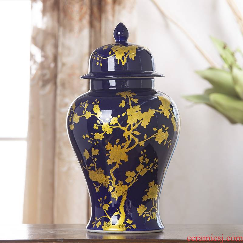 European ceramic vase furnishing articles sitting room flower POTS rich ancient frame American home wine household dry flower decoration