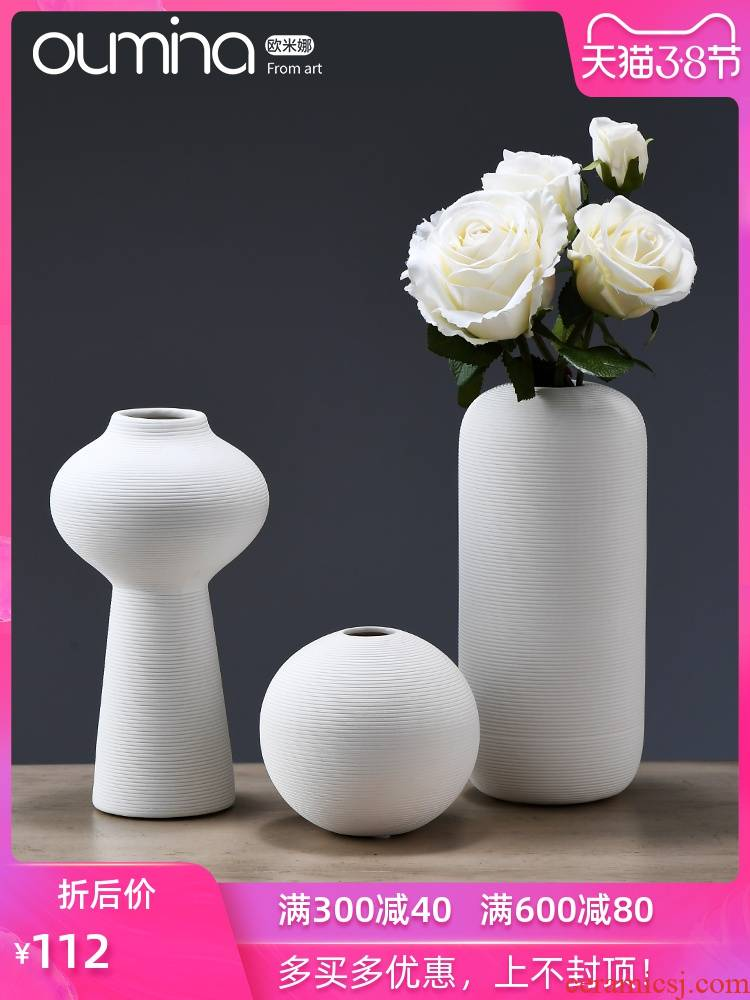 New Chinese style ceramic flower implement the mina furnishing articles, small pure and fresh and home decoration ideas dried flowers flower arrangement sitting room adornment