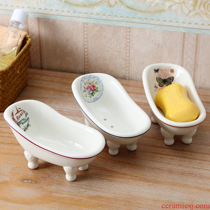 The Soap box ins Nordic drop creative move and lovely bathroom ceramic Soap dish Soap box of toilet Soap holder