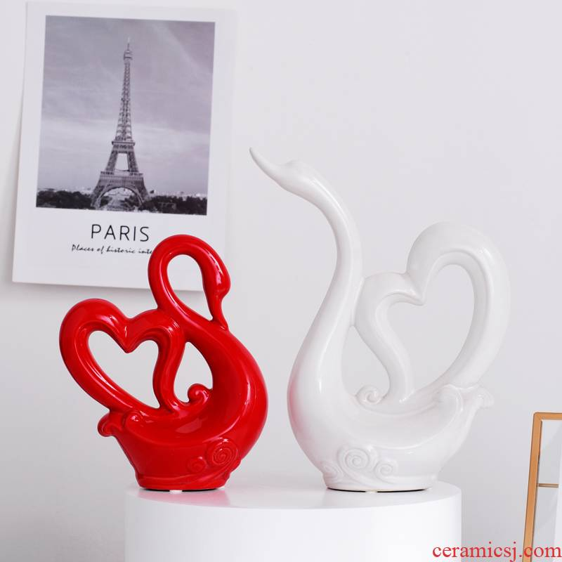 Creative household soft outfit wine ornament the knot wedding gift sitting room ark, furnishing articles ceramic decoration