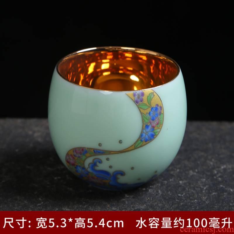 Single cup teapot teacup tea set a complete set of longquan celadon kung fu xi shi pot of household ceramic sample tea cup tea set