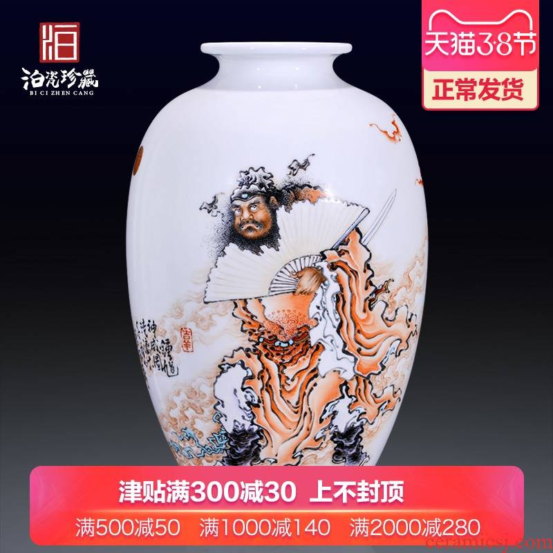 High - quality goods of jingdezhen ceramics hui - Ming wu hand - made heavy doors of new Chinese style household decoration vase furnishing articles