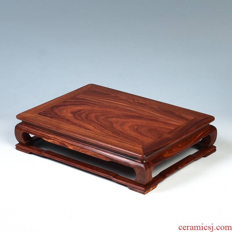 Pianology picking mahogany base rectangle red wingceltis wood base miniascape base guanyin Buddha base solid wood