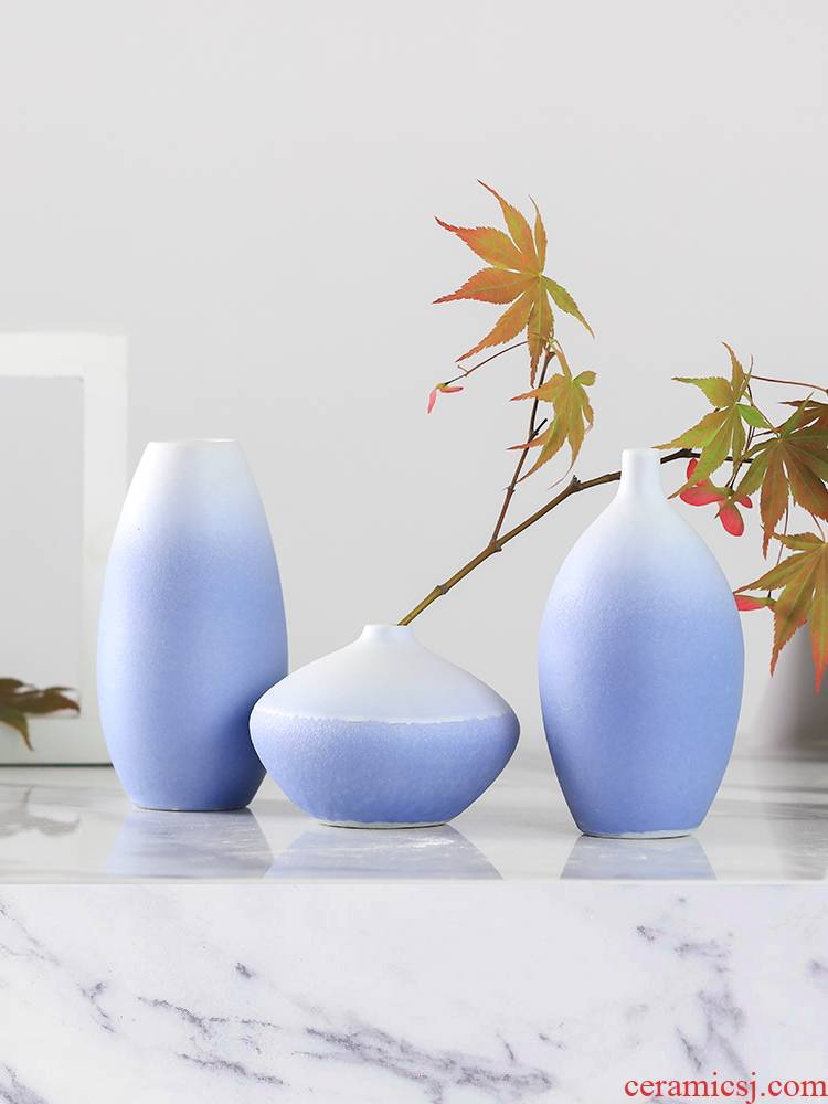 Small and pure and fresh flower implement furnishing articles, the sitting room is contracted and I ceramic flower arranging flowers bottle of dry flower receptacle porch household act the role ofing is tasted