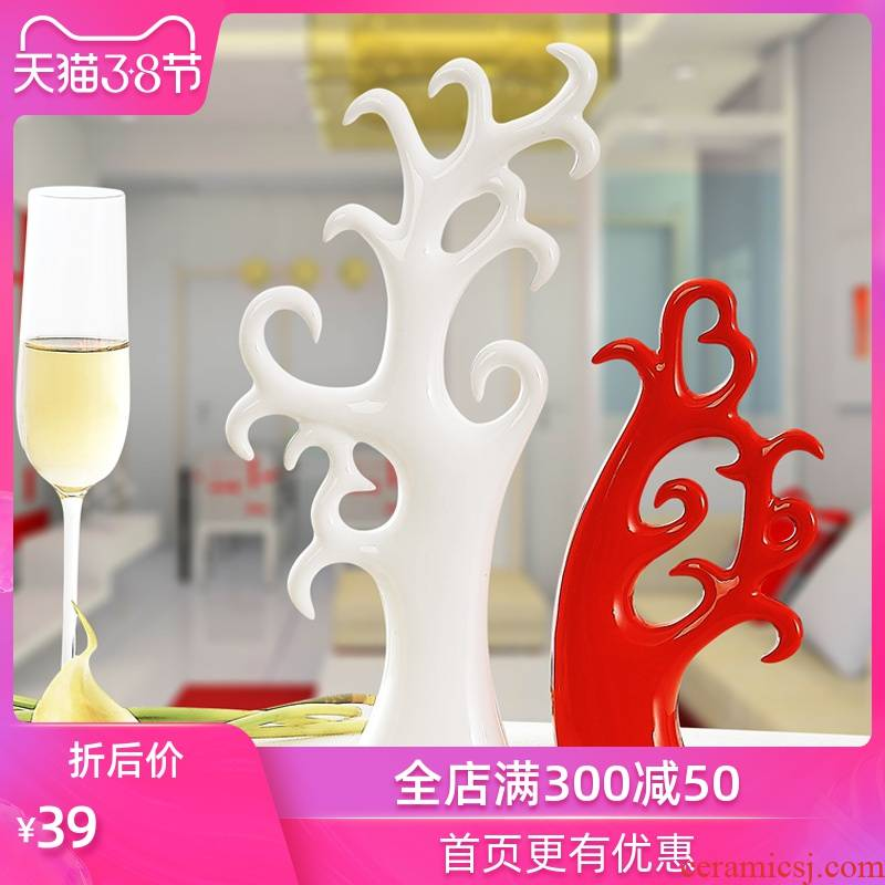 The Strong order wedding gift for the modern creative living room TV cabinet home decoration love tree furnishing articles of ceramic arts and crafts