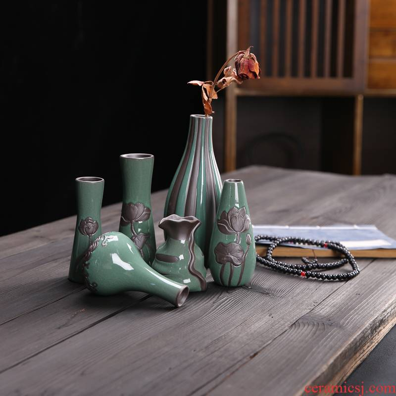 Move is I and contracted vase dry flower receptacle hydroponic flowers, ceramic European - style desktop interior furnishing articles ornaments