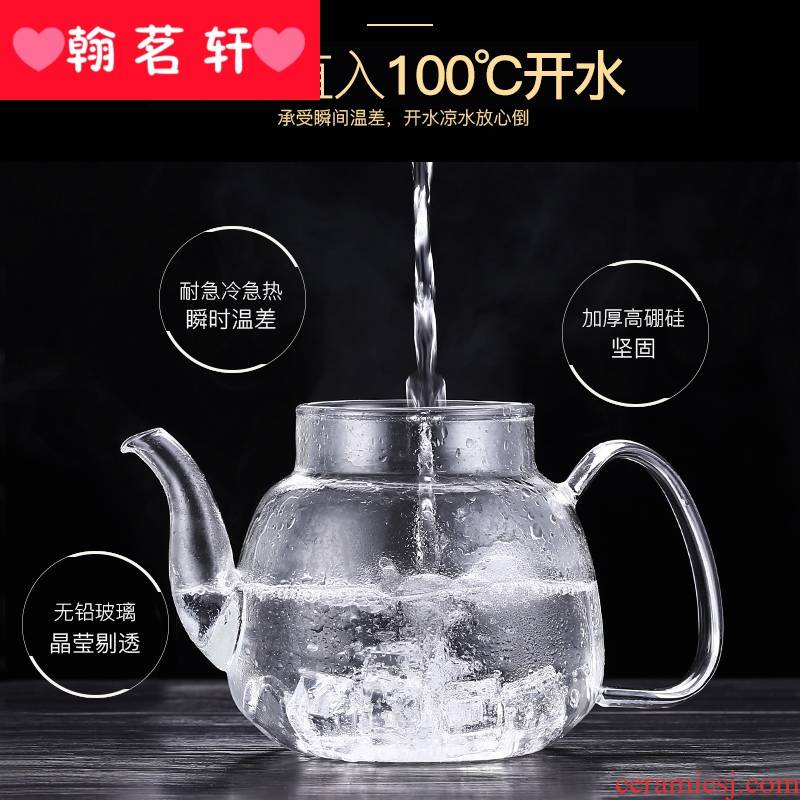 Glass teapot household electric TaoLu boiled tea, tea set more suit special high - temperature hot little boiling water pot