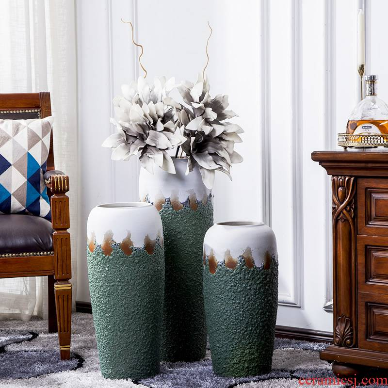 Large vase continental American dried flower arranging flowers sitting room adornment is placed creative retro decoration Large POTS