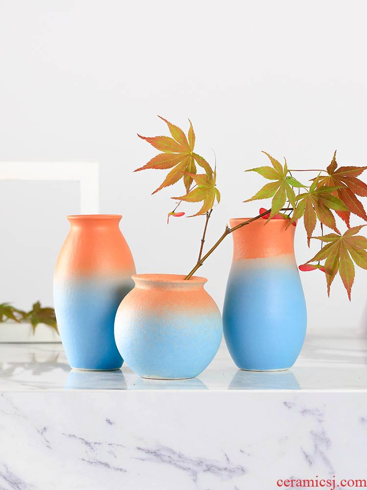 Contracted and I ceramic vase furnishing articles sitting room gradient flower arrangement flowers, dried flowers, flower porch household act the role ofing is tasted