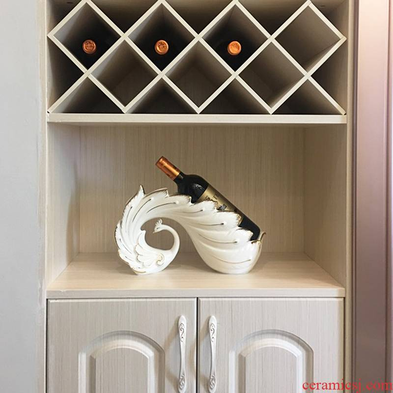 European wine accessories creative I household ceramic table wine rack sitting room place version into gifts