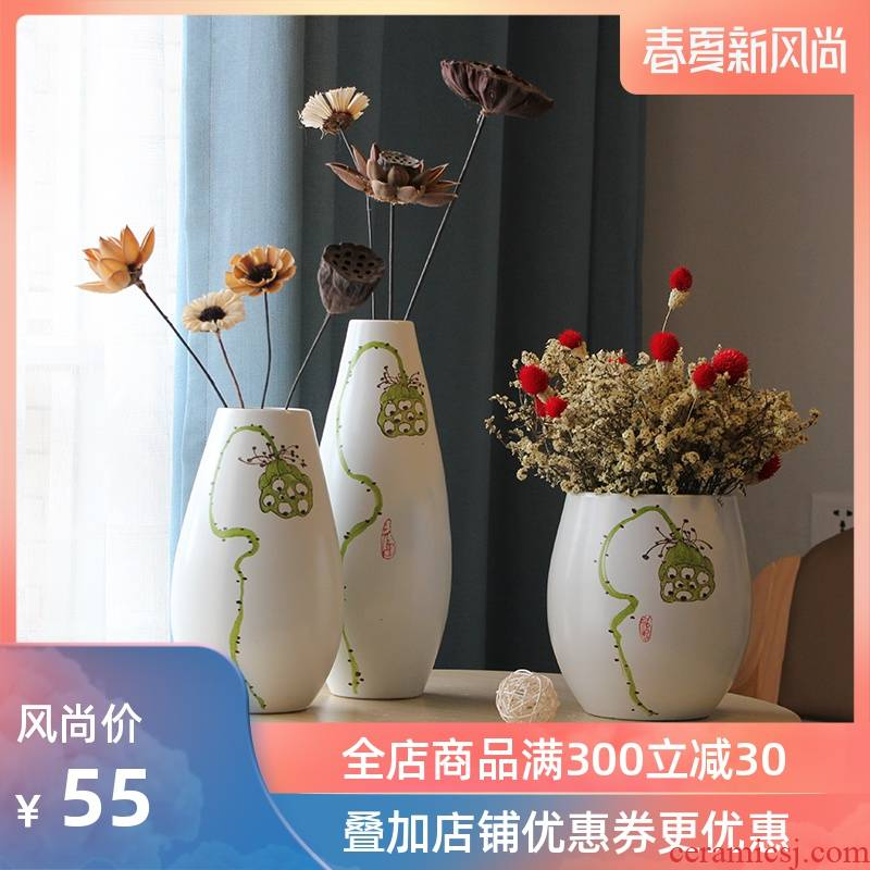 Hydroponic flower implement I and contracted household living room TV cabinet decoration of jingdezhen ceramic vases, furnishing articles