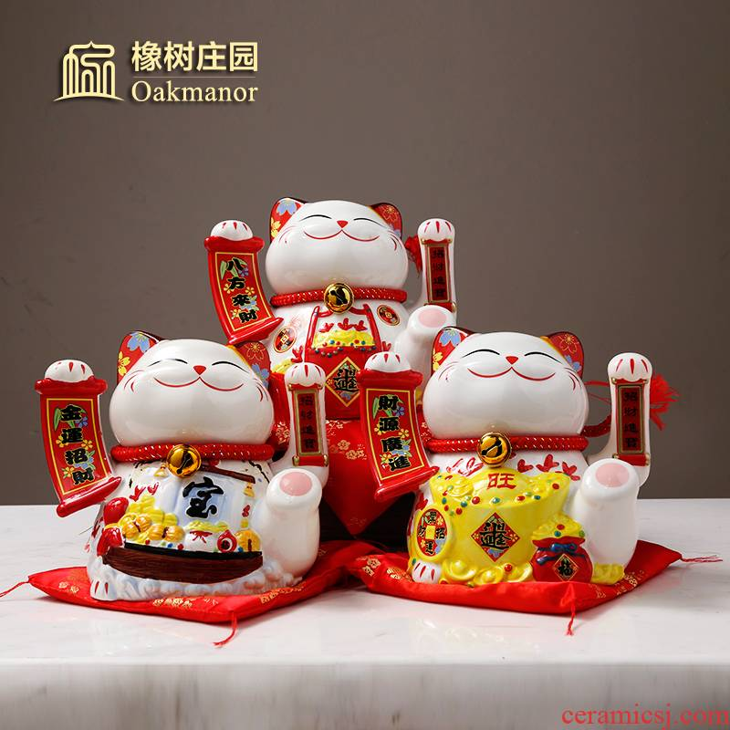 Wave plutus cat furnishing articles automatically the opened the gift shop checkout Japan ceramic electric fortune cat