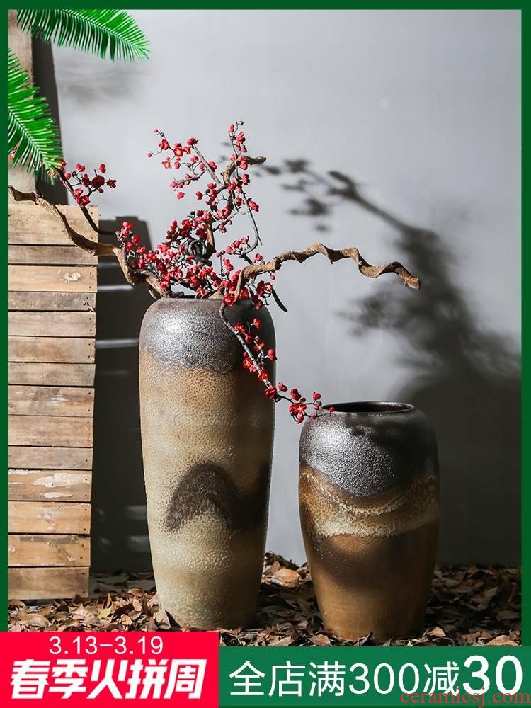 Restoring ancient ways of jingdezhen ceramic manual floor vase sitting room between example flower implement theme flower arranging furnishing articles