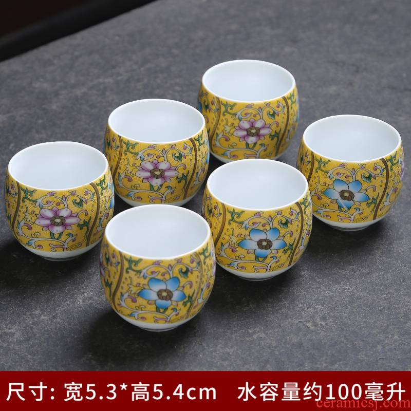 Jingdezhen blue and white porcelain kung fu tea set the see colour of blue and white porcelain bowl cups single cup sample tea cup masters cup tea cup