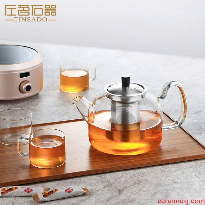 Large glass teapot can separate heating single pot of tea boiled tea machine electricity TaoLu kettle filter dedicated