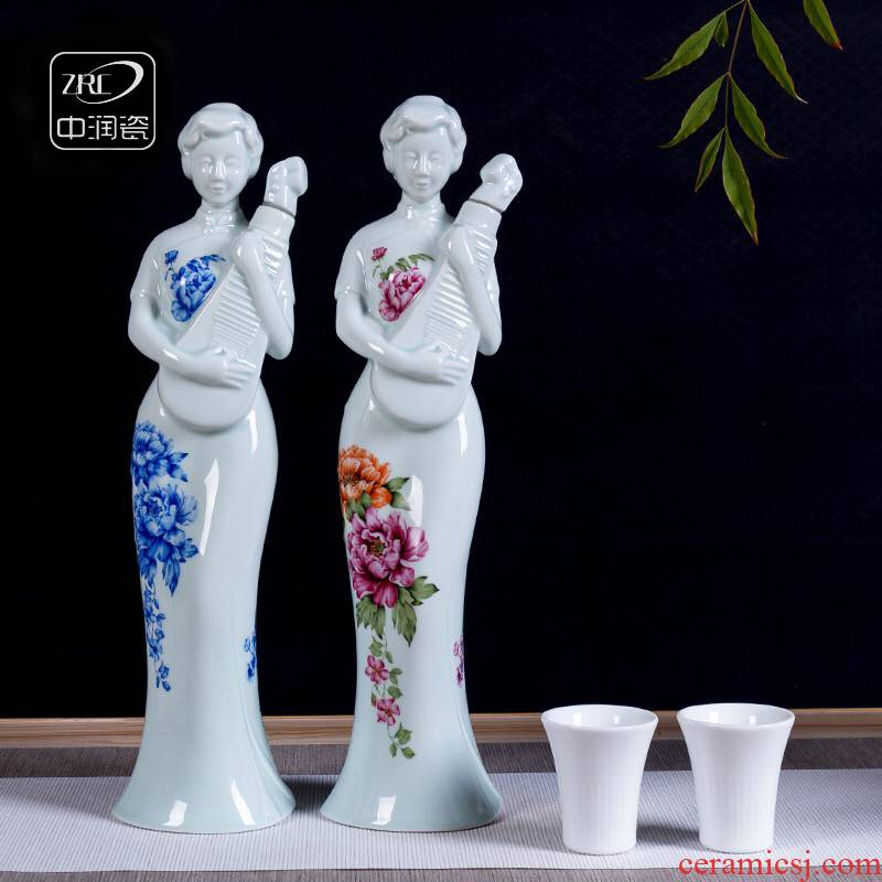 Jingdezhen ceramic jars Oriental elegance ideas like personal custom bottle home antique hip qipao bottle