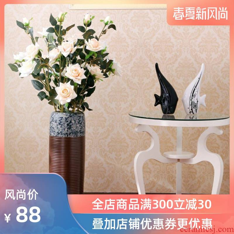 Modern European art ceramics of large vase jingdezhen I and contracted sitting room soft outfit restoring ancient ways furnishing articles