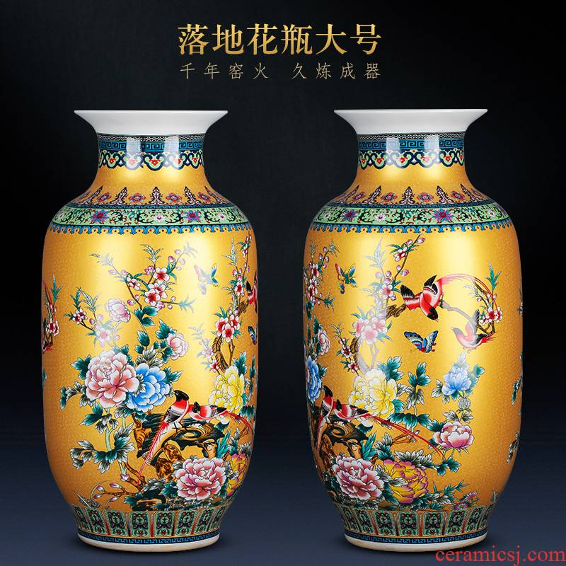 Porcelain of jingdezhen ceramics of large vases, large modern new Chinese style home sitting room adornment is placed