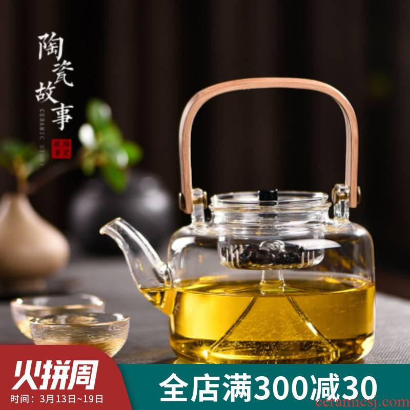 Ceramic story glass kettle boiling kettle and heat - resistant glass teapot cooked tea machine electricity TaoLu suits for