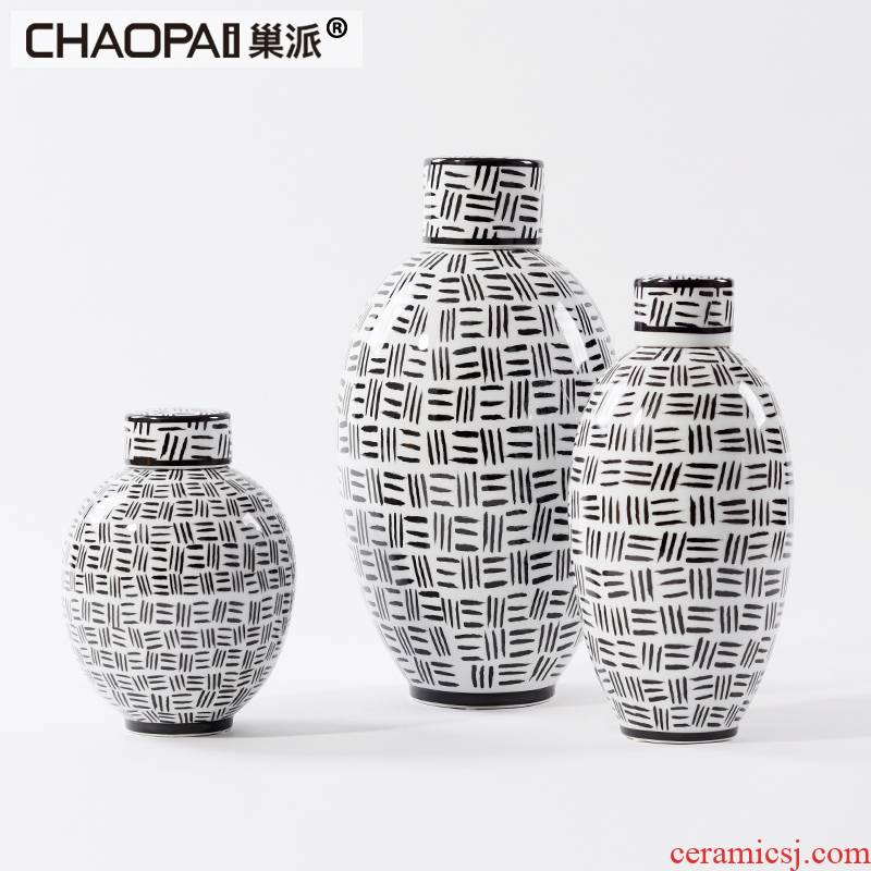 Postmodern ceramic POTS Angle of interior furnishing articles contracted style living room what wine soft outfit tie - in porch decoration
