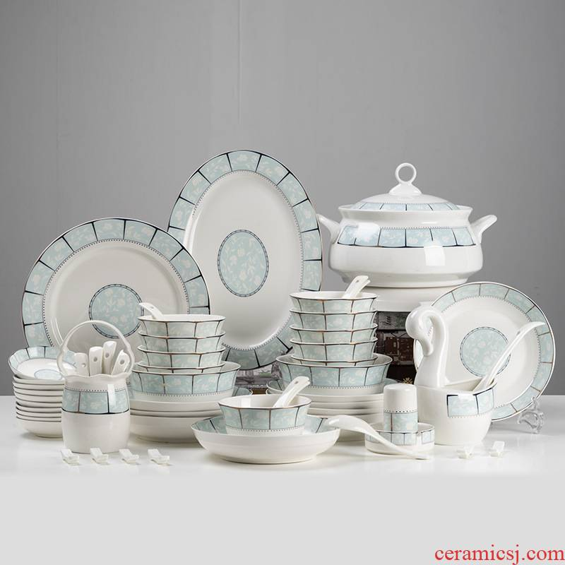 Jingdezhen ceramic tableware manufacturers shot ceramic tableware suit ceramic dishes suit custom logo