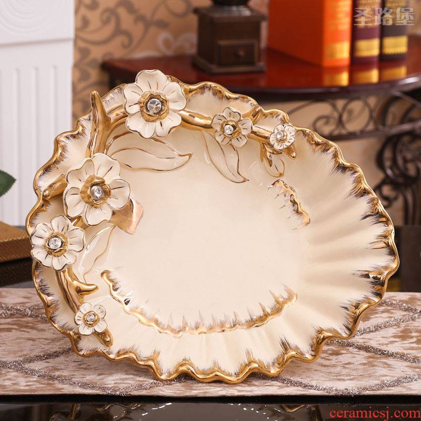 Fort SAN road ceramic European - style compote household act the role ofing is tasted compote furnishing articles furnishing articles creative living room compote European fruit bowl