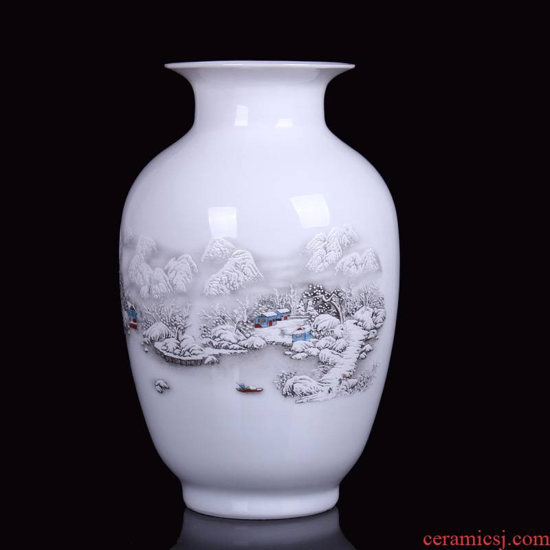 Jingdezhen ceramics, vases, flower arrangement home handicraft furnishing articles sitting room adornment ornament gift dining - room