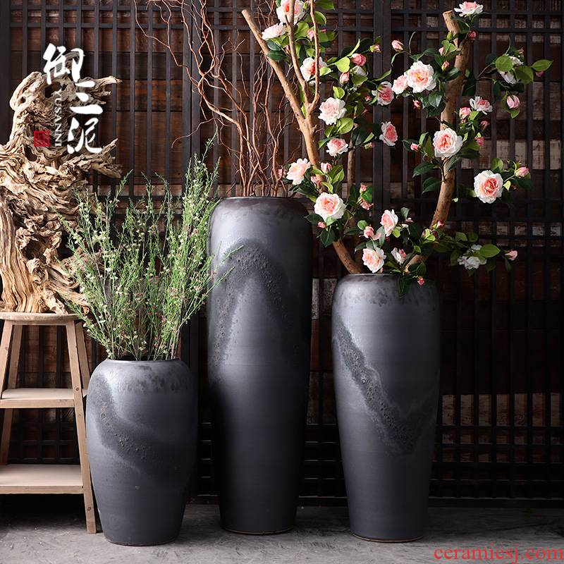 I and contracted retro POTS dry flower vases, flower arrangement sitting room adornment is placed in the courtyard garden hotel flowerpot vats