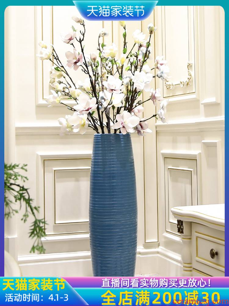 Large vases, ceramic furnishing articles sitting room decoration is I and contracted landing American high dry flower flower, adornment is placed