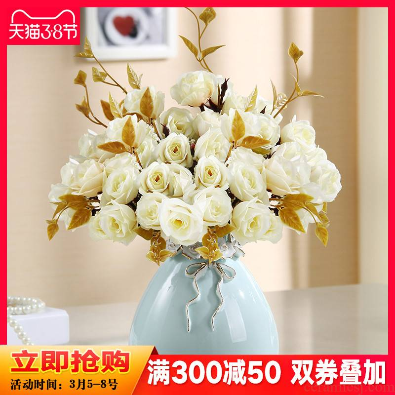 Ceramic vase furnishing articles of I and contracted household eat dried flower arranging flowers sitting room adornment creative floral arrangements