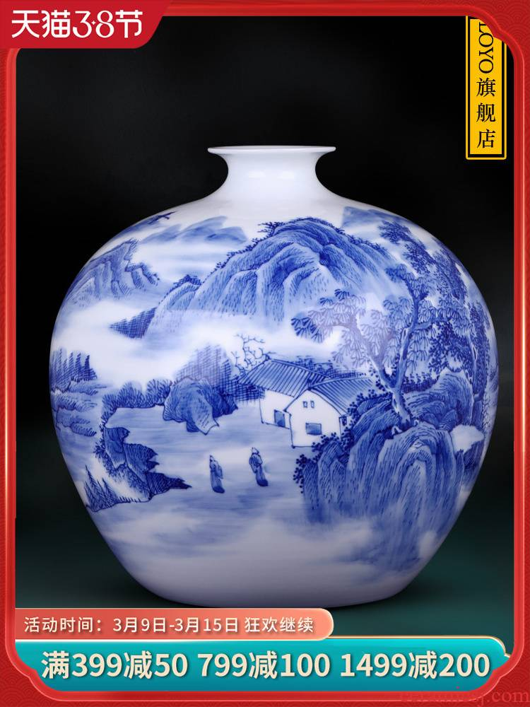Jingdezhen ceramics, vases, flower arranging hand - made scenery pomegranate bottles of rich ancient frame of Chinese style household decorations arts and crafts