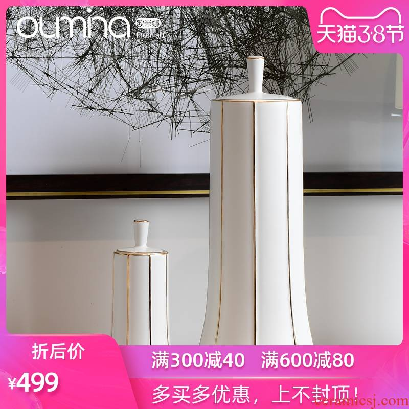 The mina I household light key-2 luxury furnishing articles with cover storage of large flower arrangement sitting room adornment ceramic decoration