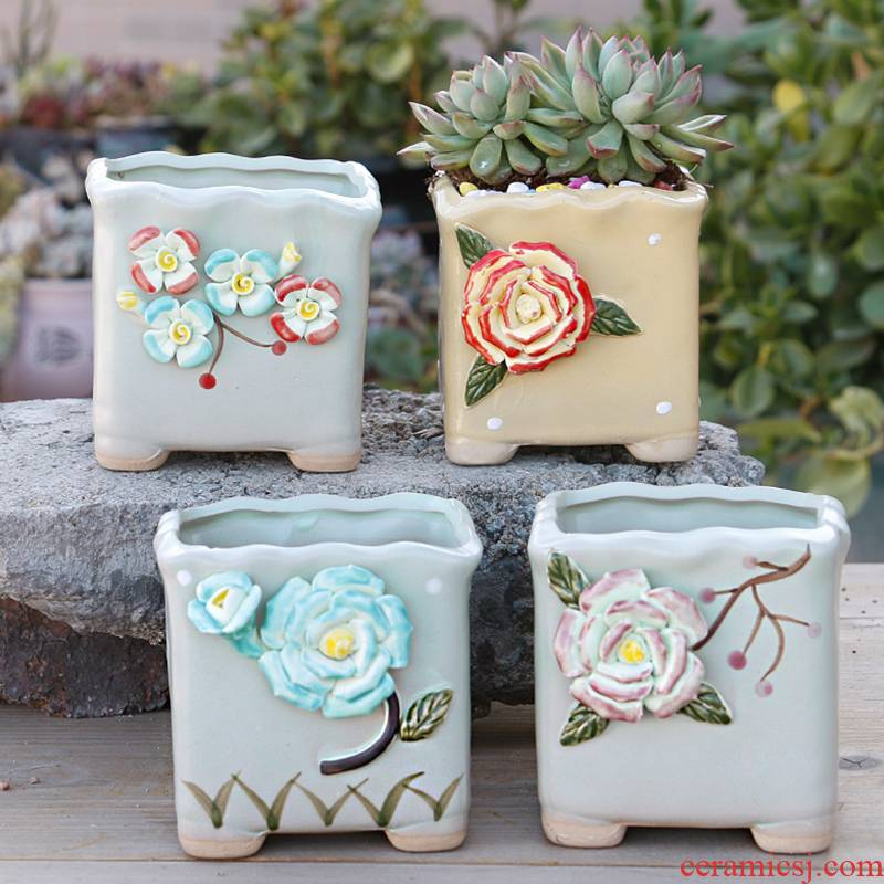 Contracted more special offer a clearance of creative move meat meat meat flowerpot ceramics coarse pottery indoor the plants flower pot in large diameter