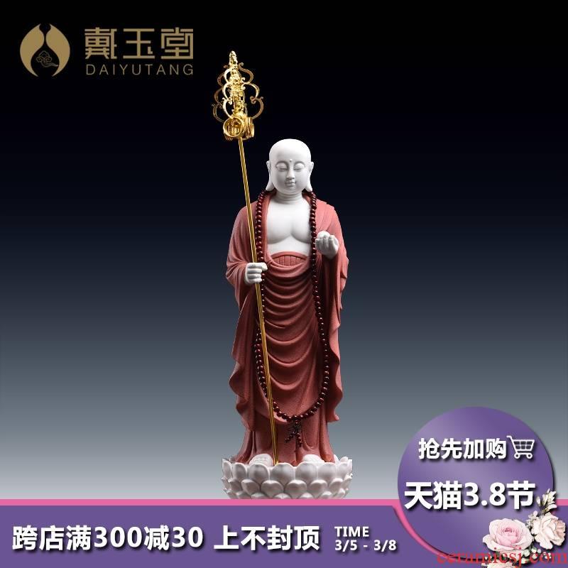 Yutang dai ceramics as a figure of Buddha enshrined household dehua white porcelain like ksitigarbha bodhisattva earth treasure multiplier station as furnishing articles