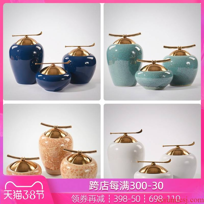 Ceramic storage tank furnishing articles of Chinese style new classic porch ark of edge of chair of the sitting room between general bottle decoration example soft decoration