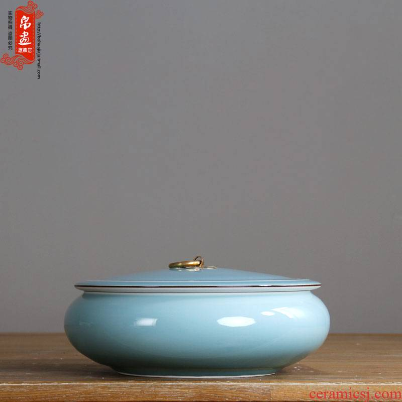Jingdezhen ceramics caddy fixings variable glaze manual creative tea house home sitting room place the metal handle POTS