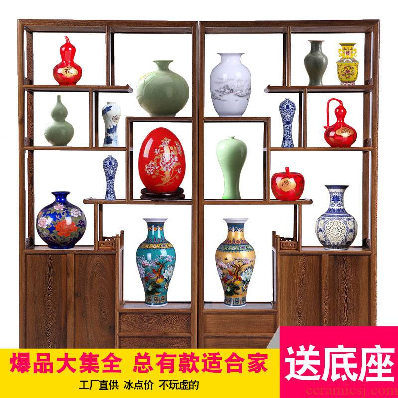 Jingdezhen ceramic floret bottle furnishing articles contracted creative living room home decoration porcelain crafts are arranging flowers