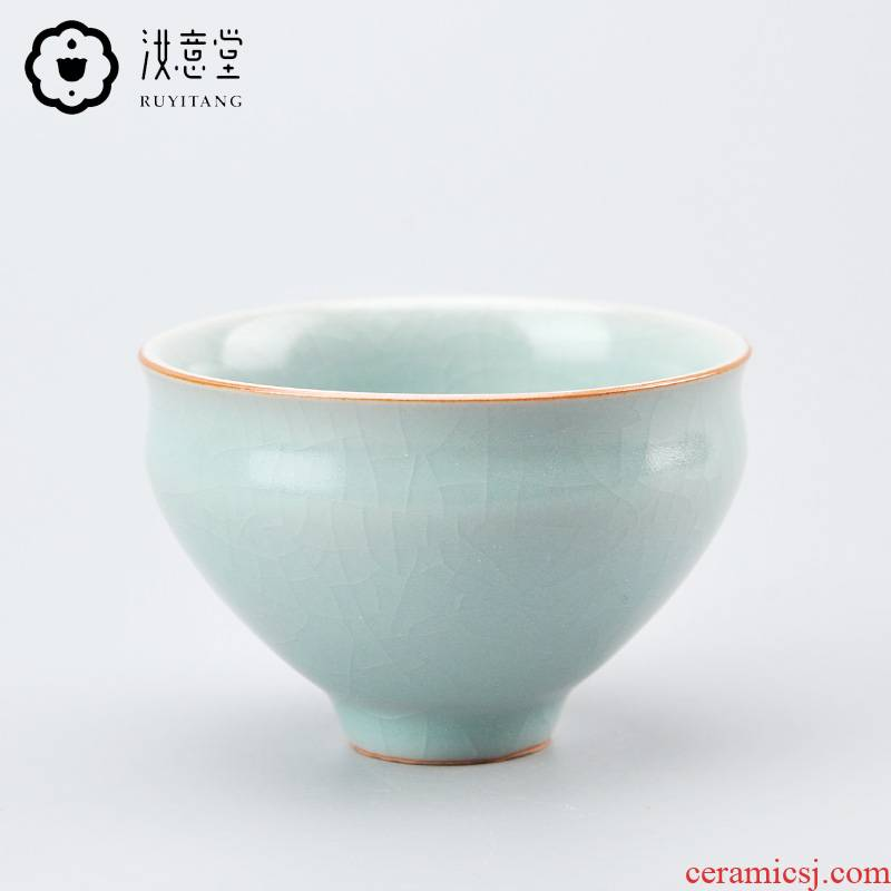 Your up sample tea cup ruzhou Your porcelain master cup tea set single CPU open piece of ceramic tea cup for its ehrs big day cyan
