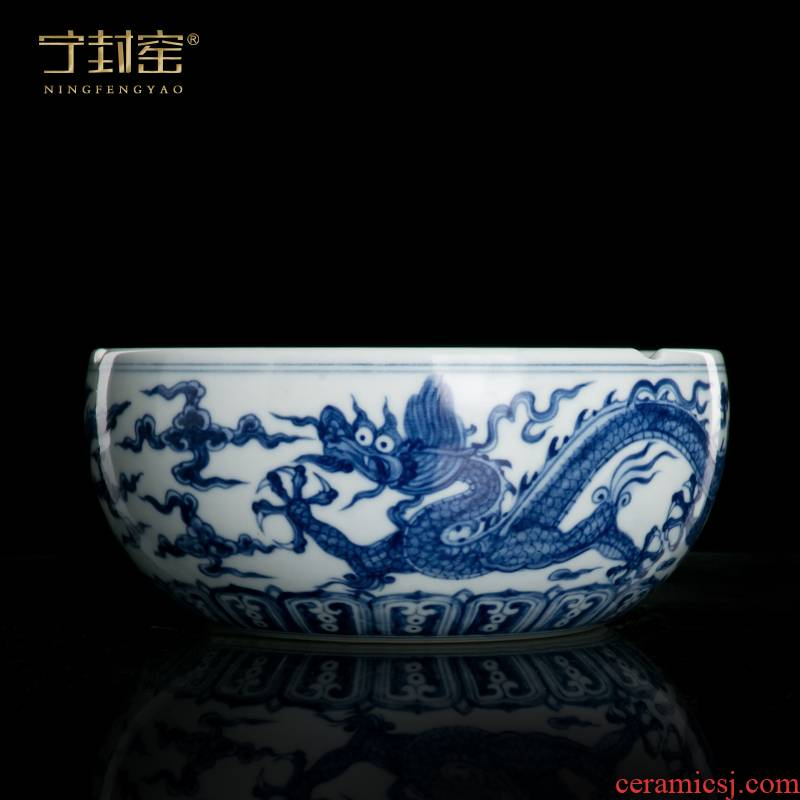 Better sealed up with furnishing articles sitting room of blue and white porcelain jingdezhen ceramic household large porcelain ashtrays Chinese office