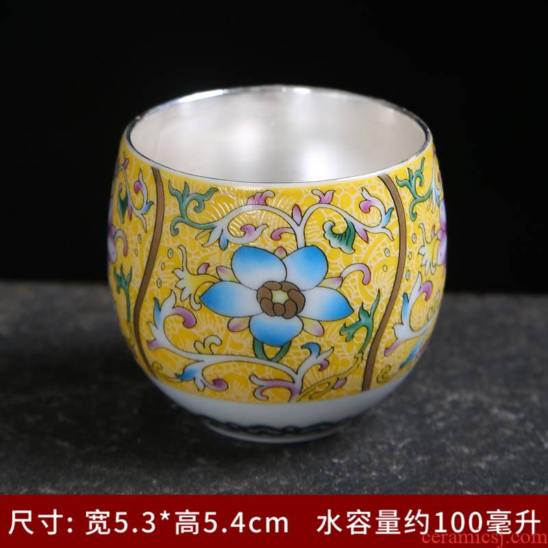 Grilled see colour master cup enamel with pastel flowers cup sample tea cup ceramic kung fu tea tea set, tea cup