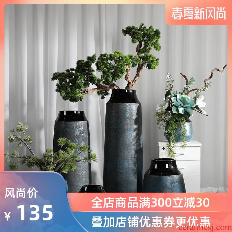 Zen flower arrangement is restoring ancient ways of large vase decoration to the hotel lounge ceramic furnishing articles sitting room porch guest - the greeting pine tree