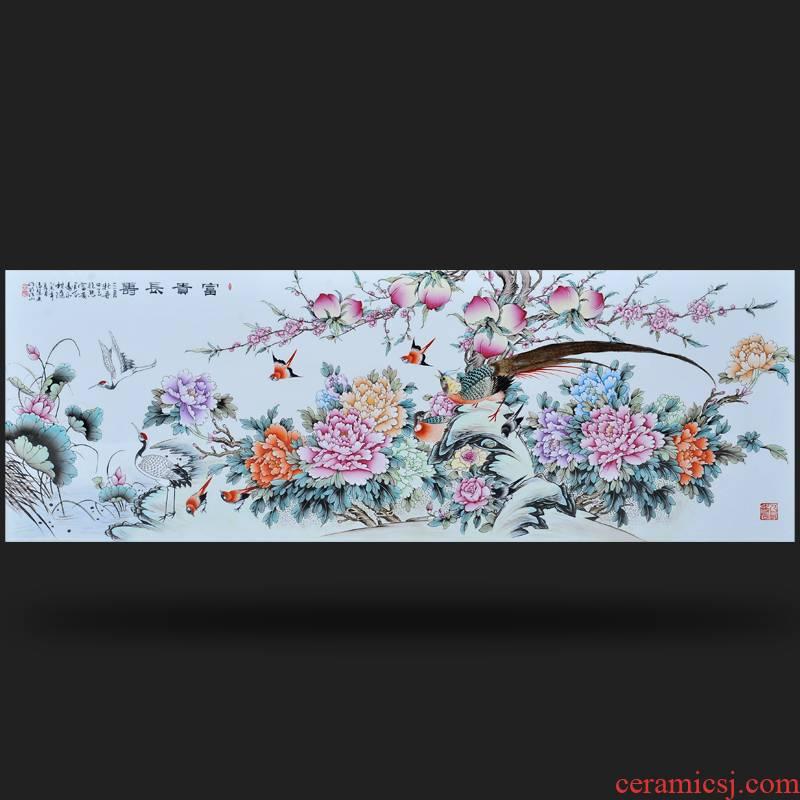 Jingdezhen ceramics Feng Huiying hand - made huge wealth longevity home furnishing articles sitting room decoration porcelain plate frame